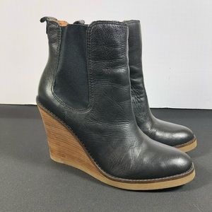 Lucky Brand Fedora Wedge Boots.
